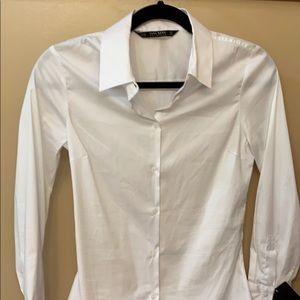 NWT Zara basic white button up
